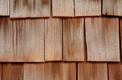 Cedar wood siding, background Royalty Free Stock Photos