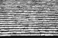 Cedar wooden roof Stock Image
