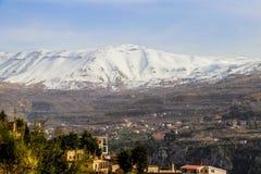 The Cedars in Lebanon in the winter of 2018 stock photo