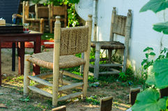 Cedarwood Chairs Royalty Free Stock Photos