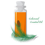Cedarwood essential oil Stock Photos