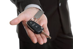 Cedendo a chave do carro Imagem de Stock