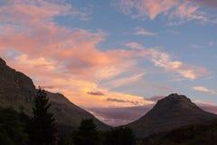 Cederberg solnedgång Arkivfoton
