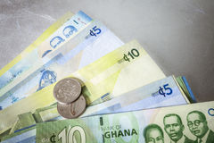Cedi - Currency of Ghana, West Africa Royalty Free Stock Photo