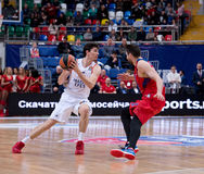 Cedi Osman (6) vs Nikita Kurbanov (41) Royalty Free Stock Photos