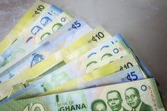 Cedi - waluta Ghana, afryka zachodnia Fotografia Royalty Free