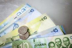 Cedi - waluta Ghana, afryka zachodnia Zdjęcie Royalty Free