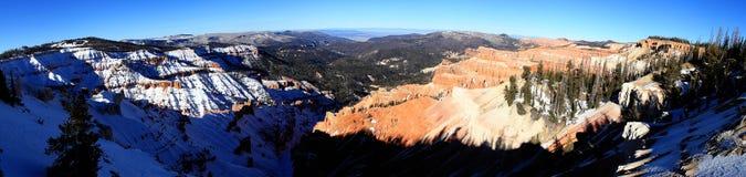 Cedr Łama Krajowego zabytku panoramę Obraz Royalty Free