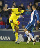 Cedric Bakambu CF Villareal Стоковые Изображения