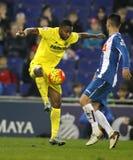 Cedric Bakambu de CF de Villareal Imagens de Stock