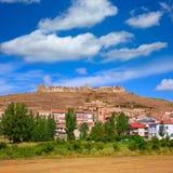Cedrillas wioski Teruel linia horyzontu sławna dla bydło jarmarku obrazy royalty free