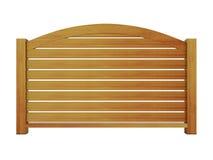 Cedrowy drewniany poręcz z drewnianymi tralkami 3 i wyginającym się wierzchołka poręczem Obraz Royalty Free