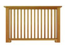 Cedrowy drewniany poręcz z drewnianymi tralkami Zdjęcie Stock