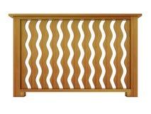 Cedrowy drewniany poręcz z drewnianymi tralkami Obraz Stock