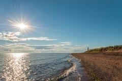 Cedrowych diun Park's Małomiasteczkowa plaża Zdjęcie Stock