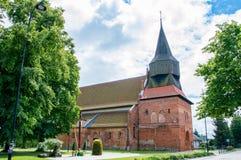 Cedry Wielkie, Polen - 17. Juni 2017: Roman Catholic-Kirche von Überziehschutzanlage Schutzengel Lizenzfreie Stockbilder
