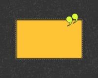 Ceduły tło z wycena znakiem Żółty tekst Obraz Royalty Free