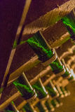 Cedziny w szampańskiej butelce Fotografia Stock