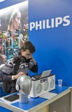 CEE 2016 exhibition of electronics in Kiev, Ukraine. Unrecognized people visit Philips, Dutch electronics technology company booth during CEE 2016, the largest Stock Image