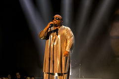 Cee Lo Green. Ella Eyre performing live at the MOBO awards, Leeds First Direct Arena, UK Stock Image