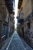 Cefalà ¹, Italië, Sicilië 16 Augustus 2015 De stegen van Cefalà ¹ Royalty-vrije Stock Foto