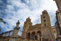 Cefalà ¹, Italien, Sicilien Augusti 16 2015 Domkyrka av Cefalà ¹ royaltyfria foton