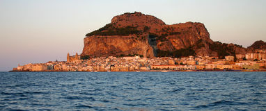 Cefalù from the sea Royalty Free Stock Images