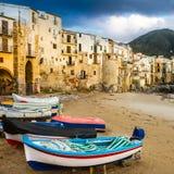 Cefalu,西西里岛,意大利,欧洲。 库存图片