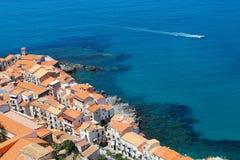 Cefalu, Сицилия, Италия стоковое фото