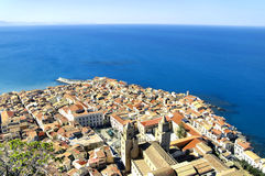 Cefalu, aerial view Stock Images