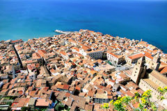 Cefalu, aerial view Royalty Free Stock Photography