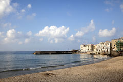 Cefalu Beach, Sicily Royalty Free Stock Photos
