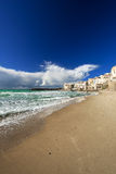Cefalu beach Royalty Free Stock Photo