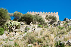 Cefalu castle Royalty Free Stock Images