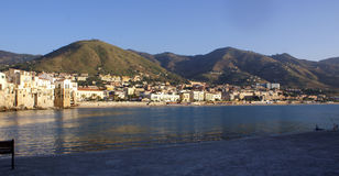Cefalu coast in Sicily Royalty Free Stock Images