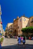 Cefalu - eine schöne alte sizilianische Stadt Stockfoto