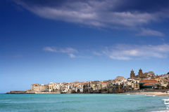 Cefalu harbor Stock Photography