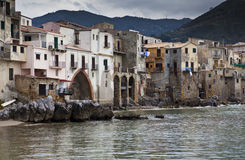 Cefalu Harbour Stock Image