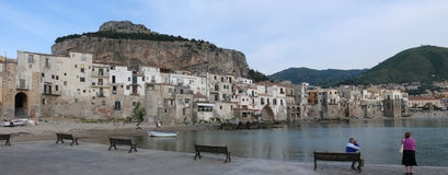 Cefalu. Historical town on Sicilian coast Stock Image