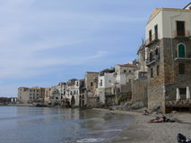 Cefalu. Historical town on Sicilian coast Royalty Free Stock Photos