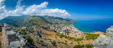 Cefalu landscape Stock Photography