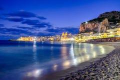 Cefalu Ligurian hav, Italien, Sicilien royaltyfri foto