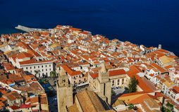Cefalu medieval city in Sicily, Italy royalty free stock images