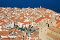 Cefalu, Mediterranean sea, Sicily Royalty Free Stock Images