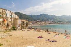 Cefalu porto Vecchio, Sicilië royalty-vrije stock foto's