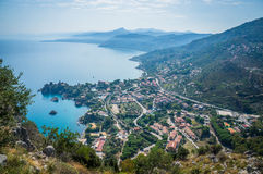 Cefalu sea view in Sicily. Cefalu sea view, gulf and mountain and trees in Sicily, Italy Royalty Free Stock Image