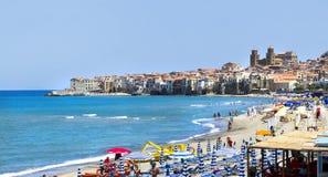 Cefalu, Sicilië Stock Foto's