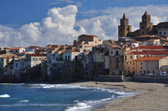 Cefalu, Sicilian town on the Mediterranean shore Royalty Free Stock Photography