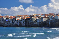 Cefalu, Sicilian town on the Mediterranean shore Stock Images