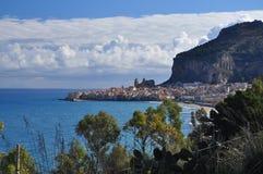 Cefalu, Sicilian town on the Mediterranean shore Stock Photo